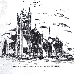 Brynmill Methodist chapel - original plan